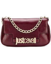 Just Cavalli - Logo Plaque Clutch Bag - Lyst