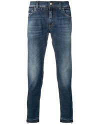 Dolce & Gabbana - Faded Straight Leg Jeans - Lyst