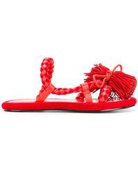 Carven - Tasselled Braided Sandals - Lyst