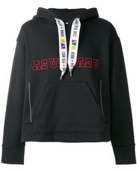Reebok - Slogan Hooded Sweatshirt - Lyst