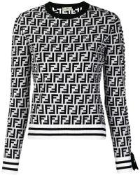 Fendi - Logo Long-sleeve Sweater - Lyst