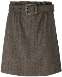 Jil Sander Navy - Belted Waist Skirt - Lyst