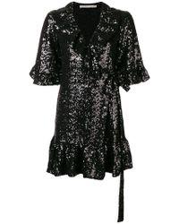 Amen - Wrapped Short-sleeve Mini Dress - Lyst