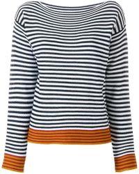 Roberto Collina - Striped Knit Jumper - Lyst