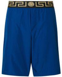 Versace - Greek Key Waistband Swim Shorts - Lyst