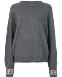 Alexander Wang - Jumper With Crystals - Lyst