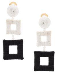 Oscar de la Renta   Wrapped Double Square Earrings   Lyst
