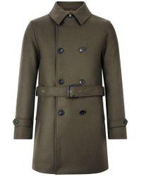 Mackintosh - Dark Olive Wool Short Trench Coat Gm-005f - Lyst