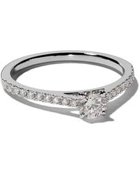 De Beers - Platinum My First Db Classic Pavé Solitaire Diamond Ring - Lyst