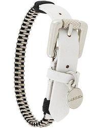 DIESEL - Zipper Bracelet - Lyst