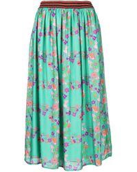 Kristina Ti - Floral Print Midi Dress - Lyst