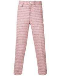 Education From Young Machines - Tweed Cropped Trousers - Lyst