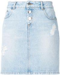 Each x Other - Denim Mini Skirt - Lyst