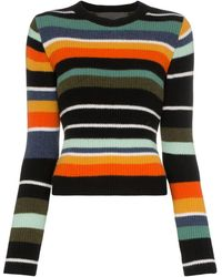 The Elder Statesman - Tes striped cashmere top - Lyst
