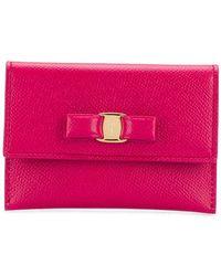 cd610edff5 Lyst - Ferragamo  Vara  Bow Makeup Case in Pink