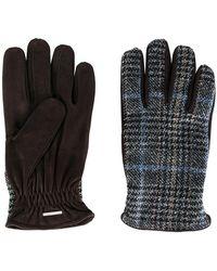 Lardini - Plaid Knitted Gloves - Lyst