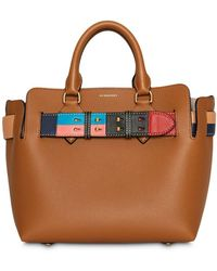 Burberry - The Small Leather Colour Block Detail Belt Bag - Lyst
