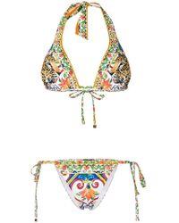Dolce & Gabbana - Printed String Bikini - Lyst