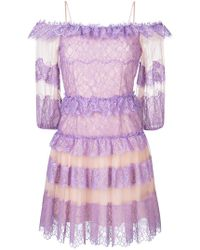 Blumarine | Ruffled Lace Dress | Lyst
