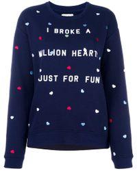 Zoe Karssen   Heart Embroidery Sweatshirt   Lyst