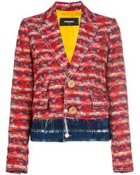 DSquared² - Contrast Embroidered Blazer - Lyst