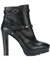 Albano | Buckled Platform Ankle Boots | Lyst