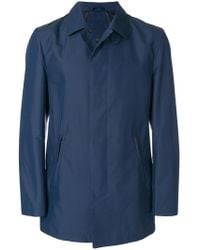 Corneliani - Concealed Front Trench Coat - Lyst
