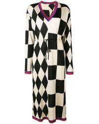Marco De Vincenzo - Checked Long Dress - Lyst