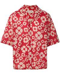 Marni - Camicia In Voile Di Cotone Floreale - Lyst