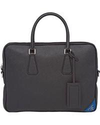 Prada - Saffiano Laptop Bag - Lyst