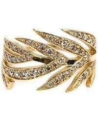 Marc Alary - Diamond Leaf Ring - Lyst