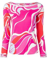 Emilio Pucci - Printed Long Sleeved Blouse - Lyst