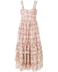 Ainea - Floral Print Maxi Dress - Lyst