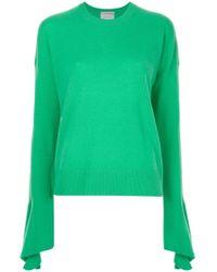Calvin Klein - Flared Sleeve Knitted Jumper - Lyst