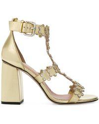 studded open-toe sandals - Metallic Red Valentino G9PmaNJ