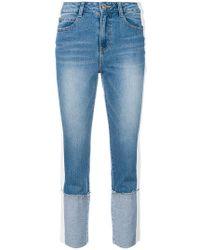 SJYP - Folded Cuff Jeans - Lyst