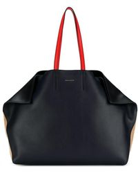 Alexander McQueen - 'butterfly' Colourblock Suede And Leather Tote - Lyst