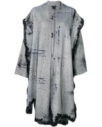 Avant Toi - Oversized Distressed Coat - Lyst