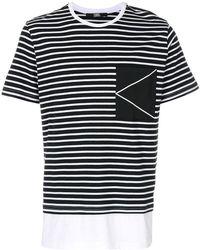 Karl Lagerfeld - Striped K Logo T-shirt - Lyst