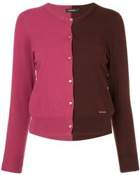 Loveless - Two-tone Buttoned Cardigan - Lyst