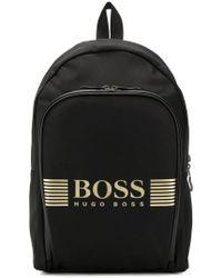 BOSS - Logo Printed Backpack - Lyst