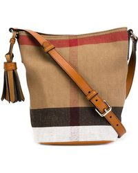 aab5e01d3f3a Burberry - Ashby Small Canvas Check   Leather Crossbody - Lyst