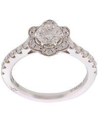Marchesa - Anillo con diseño de flor con diamante en oro blanco de 18kt - Lyst