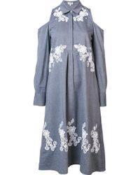 SUNO - Cut-out Shirt Dress - Lyst