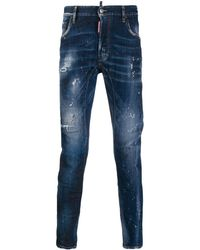 DSquared² - Distressed Slim Fit Jeans - Lyst