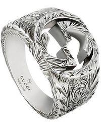Gucci - Interlocking G Ring - Lyst