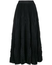 Givenchy - Long Pleated Skirt - Lyst