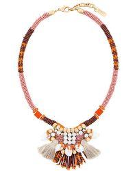 Rada' - Bead And Tassle Necklace - Lyst