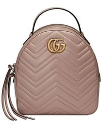 a9b4e7efab33 Gucci Gg Marmont Matelasse Quilted Leather Backpack - in Black - Lyst