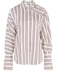 cfe710cf2fd26f Camiel Fortgens Cotton Button Shirt With Deconstructed Details in ...
